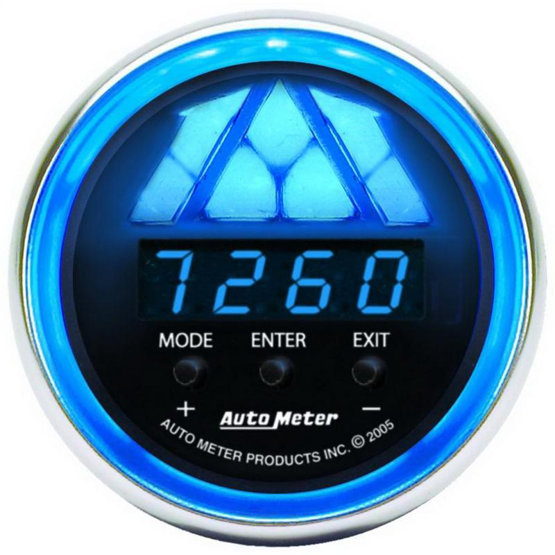 AutoMeter GAUGE; SHIFT LIGHT; DIGITAL RPM W/MULTI-COLOR LED LIGHT; DPSS LEVEL 2; COBALT