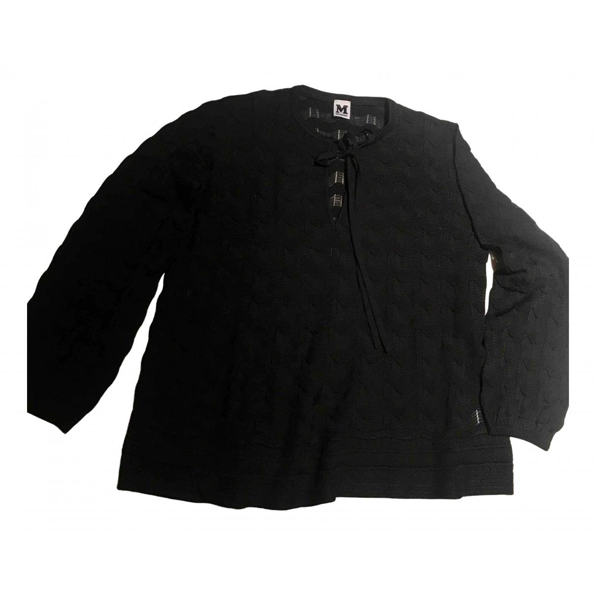 M Missoni - Pull   pour femme en laine - noir