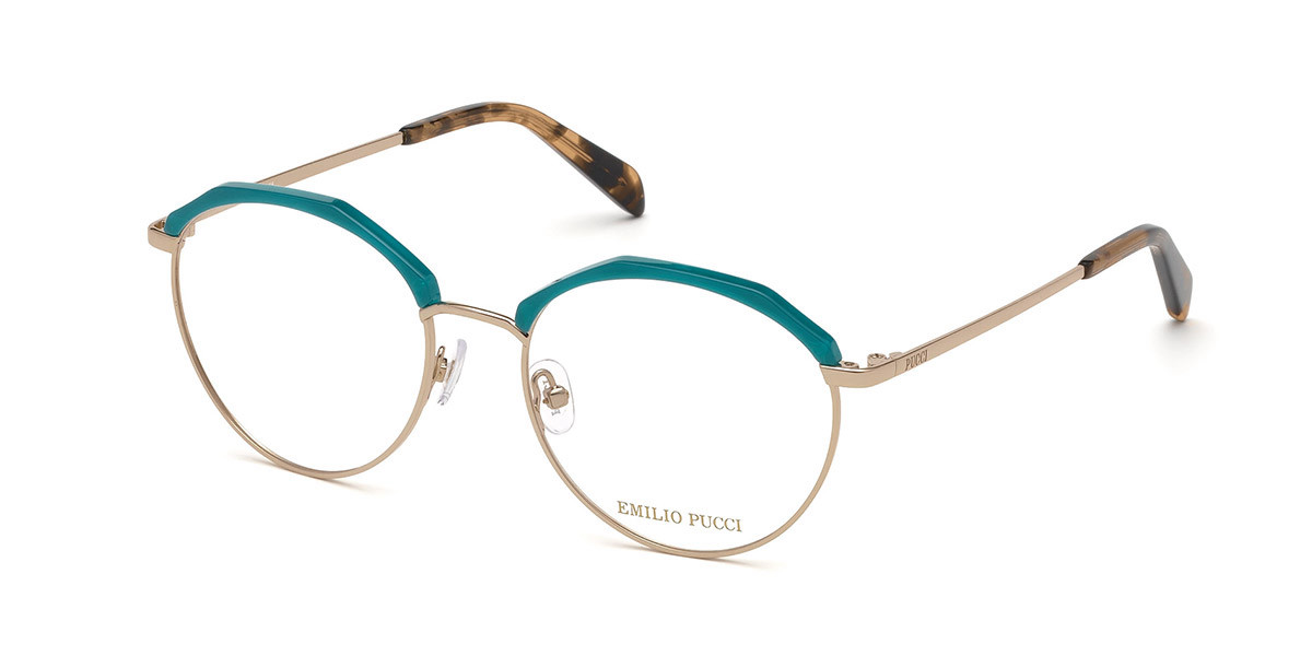 Emilio Pucci EP5103 089 Women's Glasses Green Size 52 - Free Lenses - HSA/FSA Insurance - Blue Light Block Available