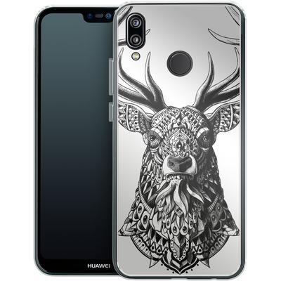 Huawei P20 Lite Silikon Handyhuelle - Ornate Buck von BIOWORKZ