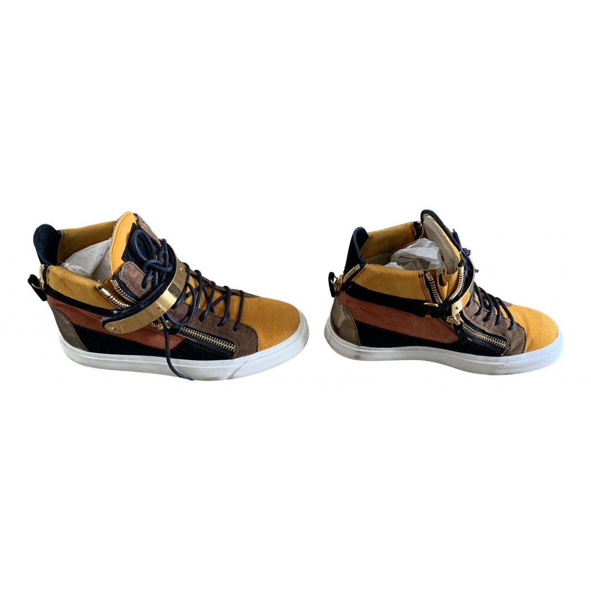 Giuseppe Zanotti - Baskets   pour femme en cuir - orange