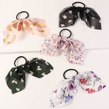 5pcs Floral Pattern Hair Tie
