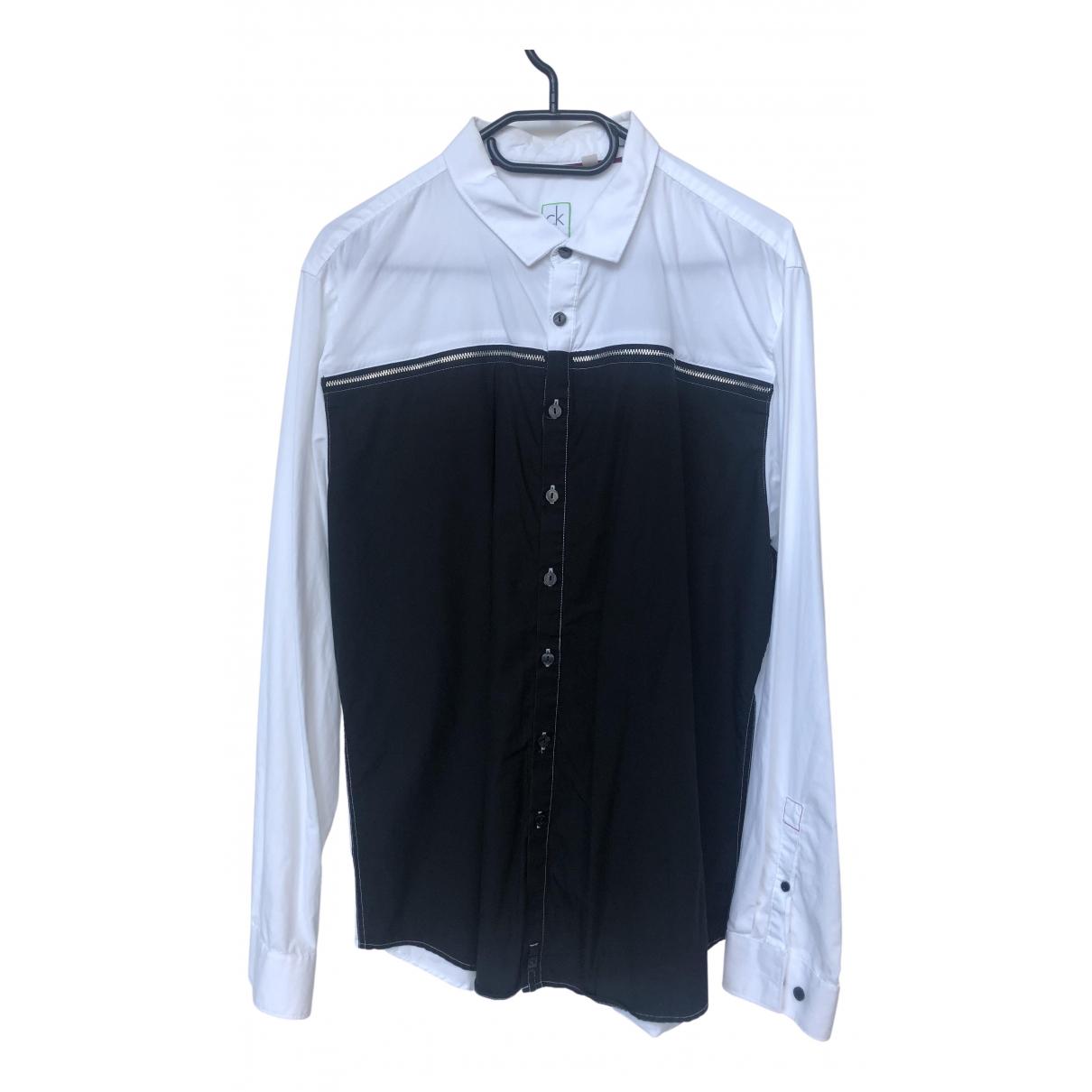 Calvin Klein N White Cotton Shirts for Men L International