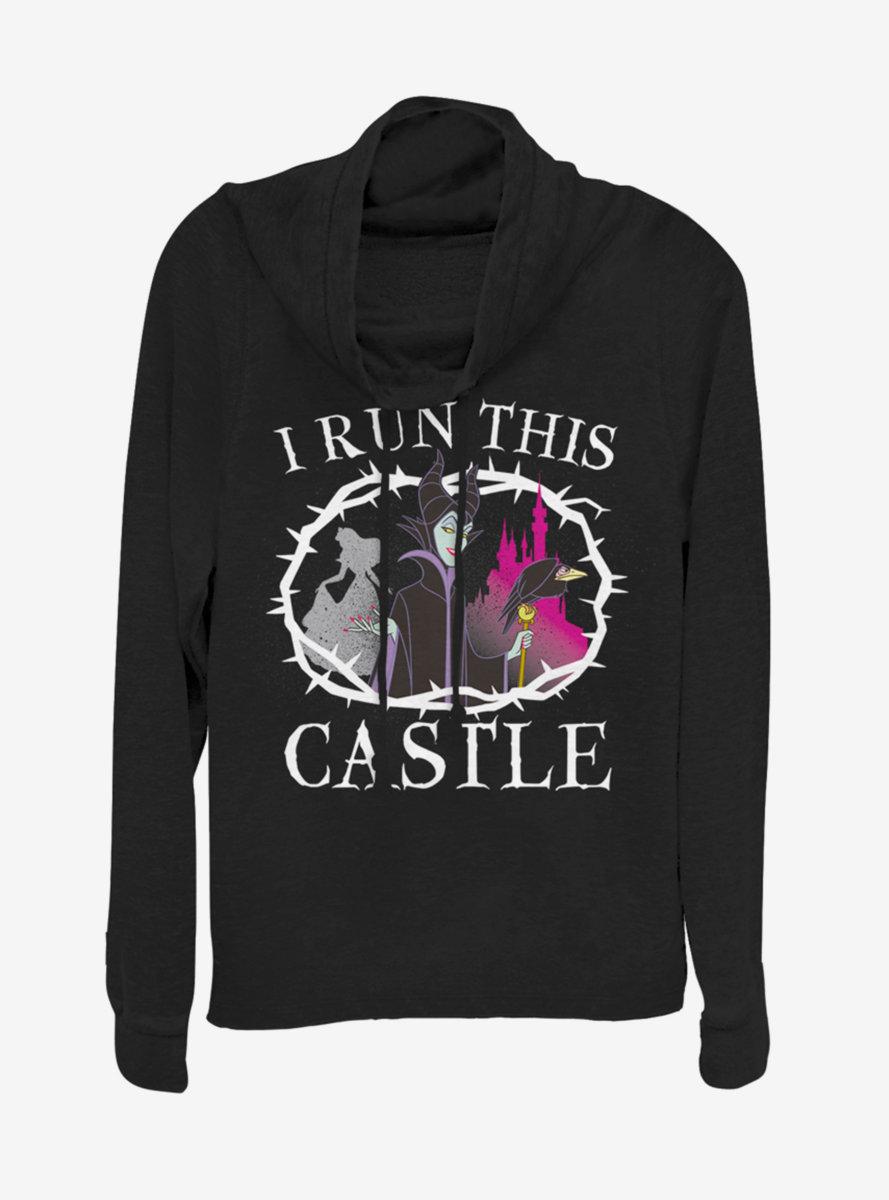 Disney Princess I Run This Castle Cowlneck Long-Sleeve Womens Top