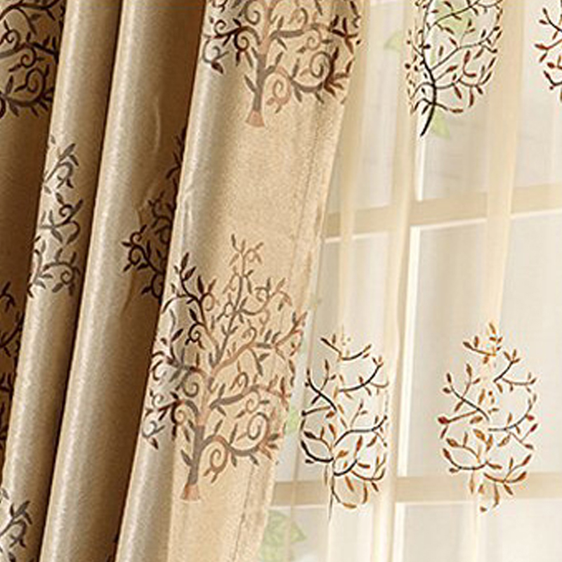 Blending Material Decoration Feature European Style Biparting Open Sheer