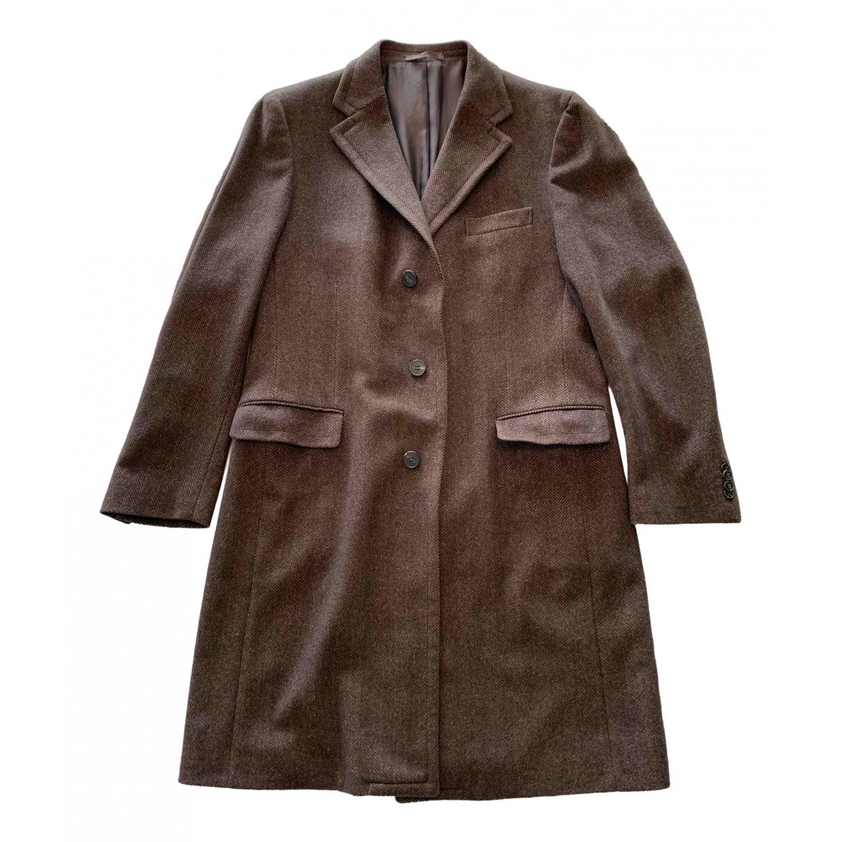 Z Zegna \N Brown coat  for Men 56 FR