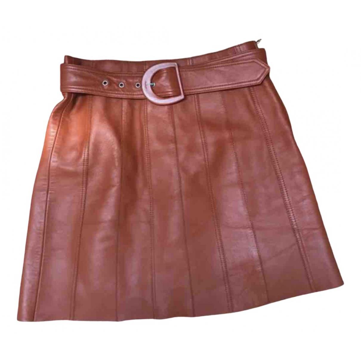 Mini falda de Cuero Sandro