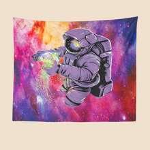 Tapiz con estampado de astronauta
