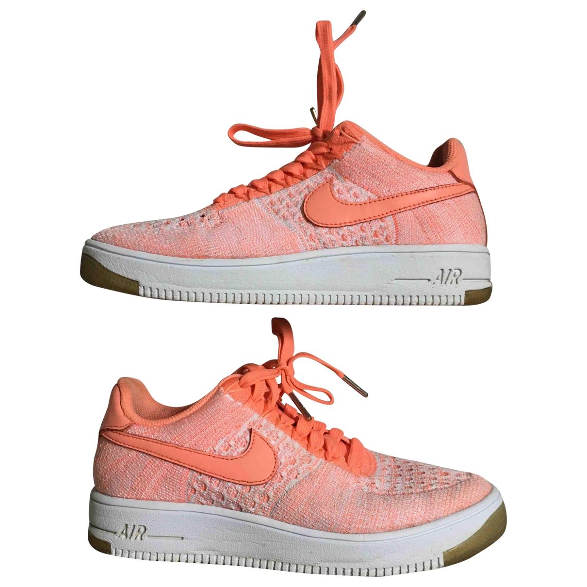 Nike Air Force 1 Sneakers in  Orange Leinen