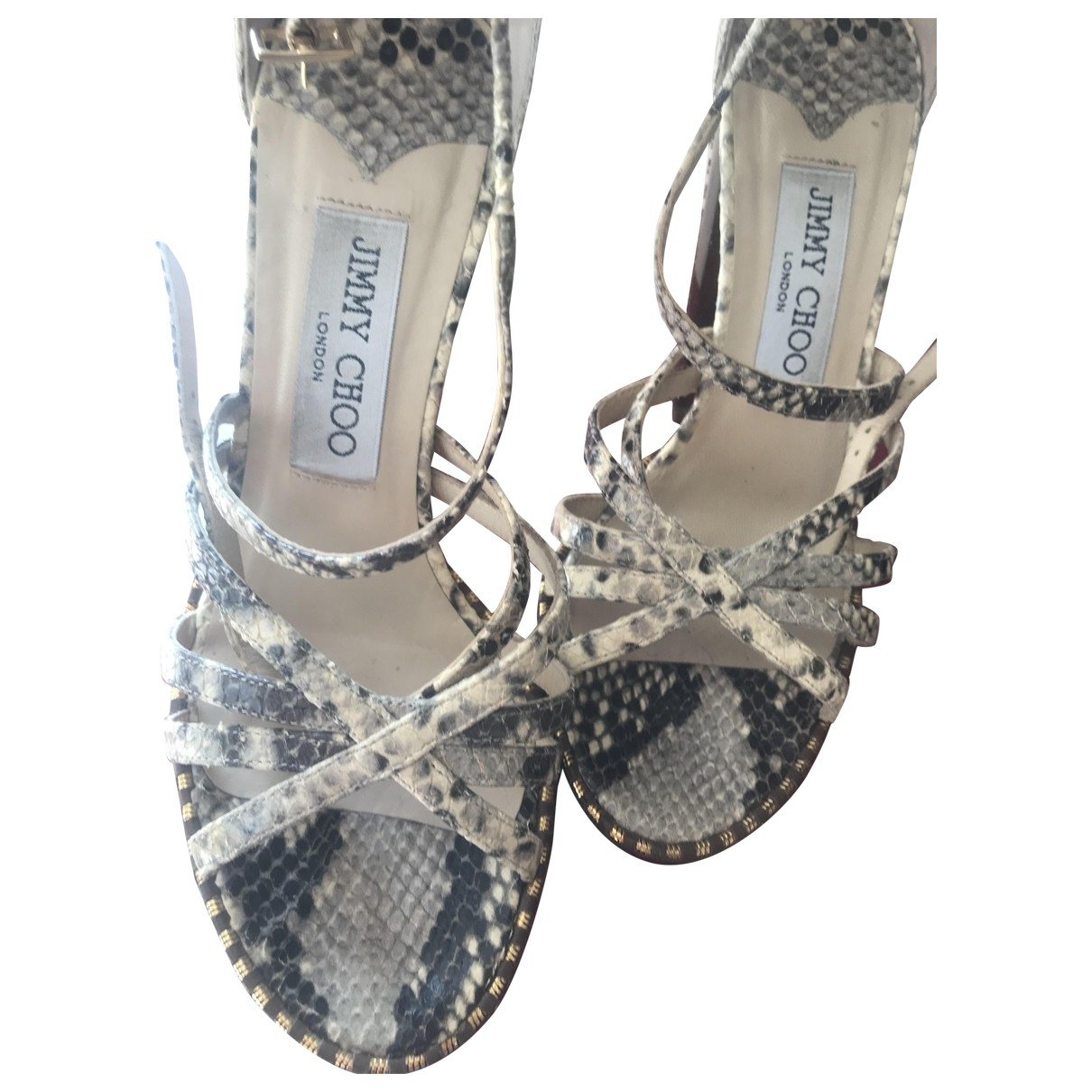 Jimmy Choo \N Beige Water snake Sandals for Women 36 EU