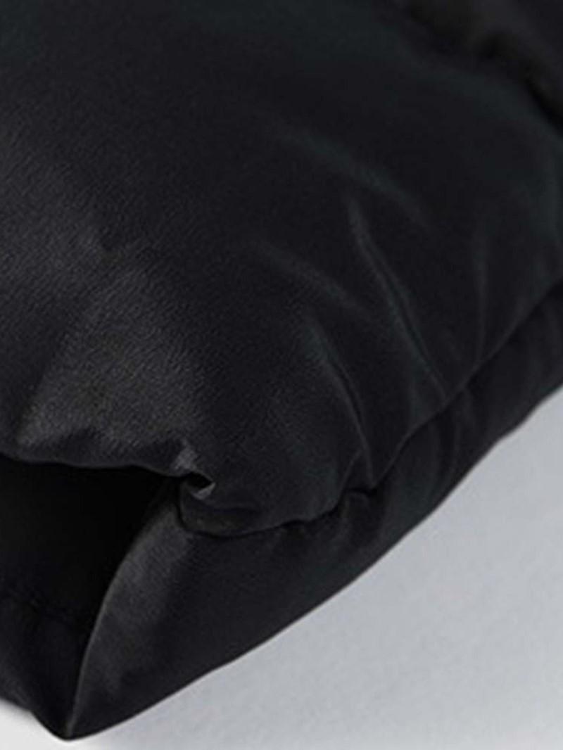 Ericdress Mid-Length Plain Hooded Casual Zipper Style Men's Down Jacket
