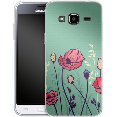 Samsung Galaxy J3 (2016) Silikon Handyhuelle - Summer Field von Little Clyde