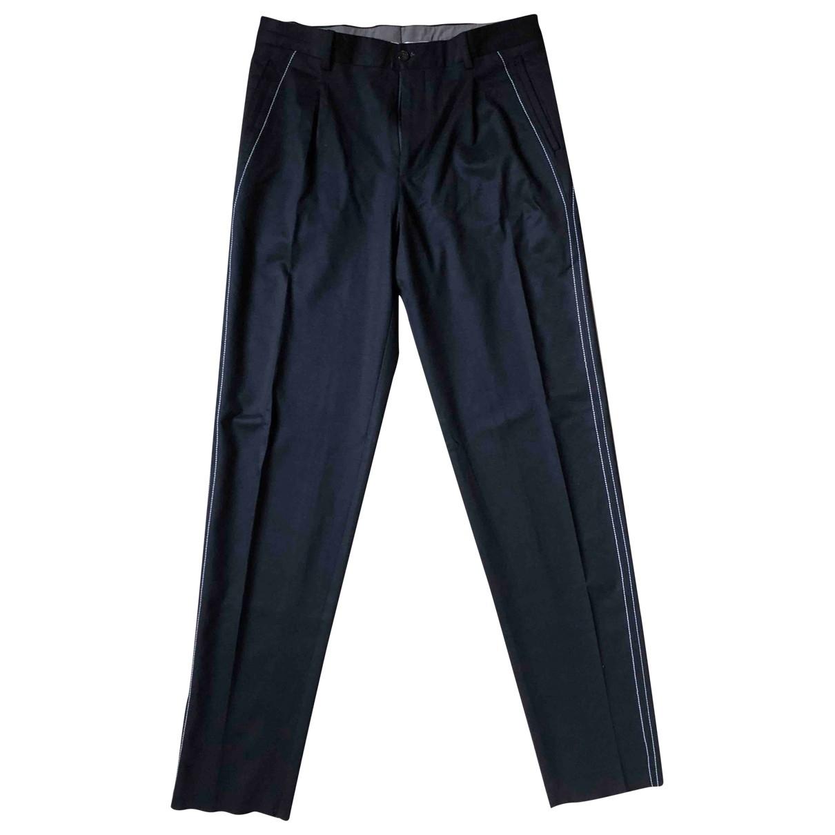Pantalones en Viscosa Azul Emporio Armani