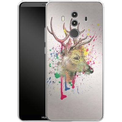 Huawei Mate 10 Pro Silikon Handyhuelle - Splatter Deer von Mark Ashkenazi