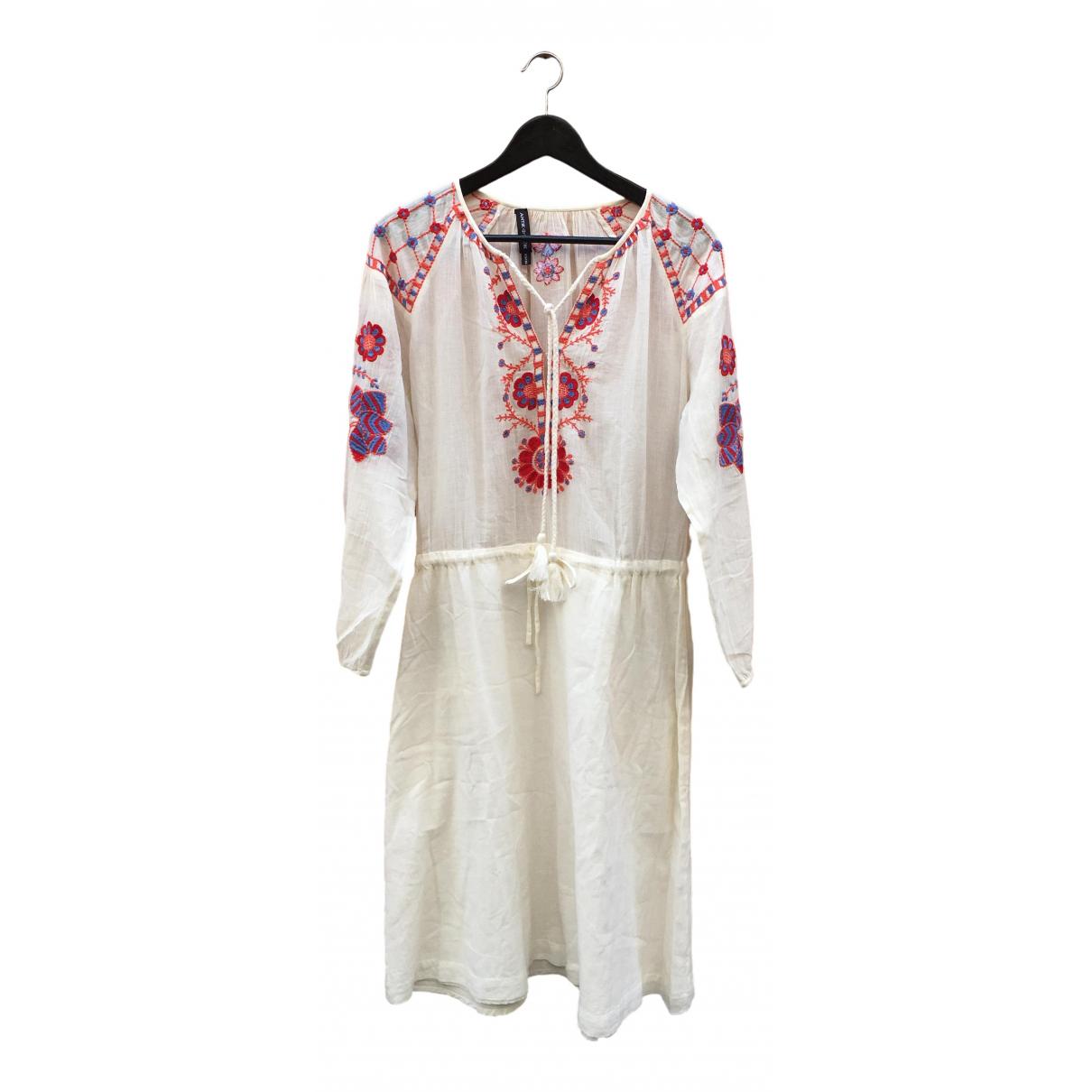 Antik Batik \N Kleid in  Weiss Baumwolle