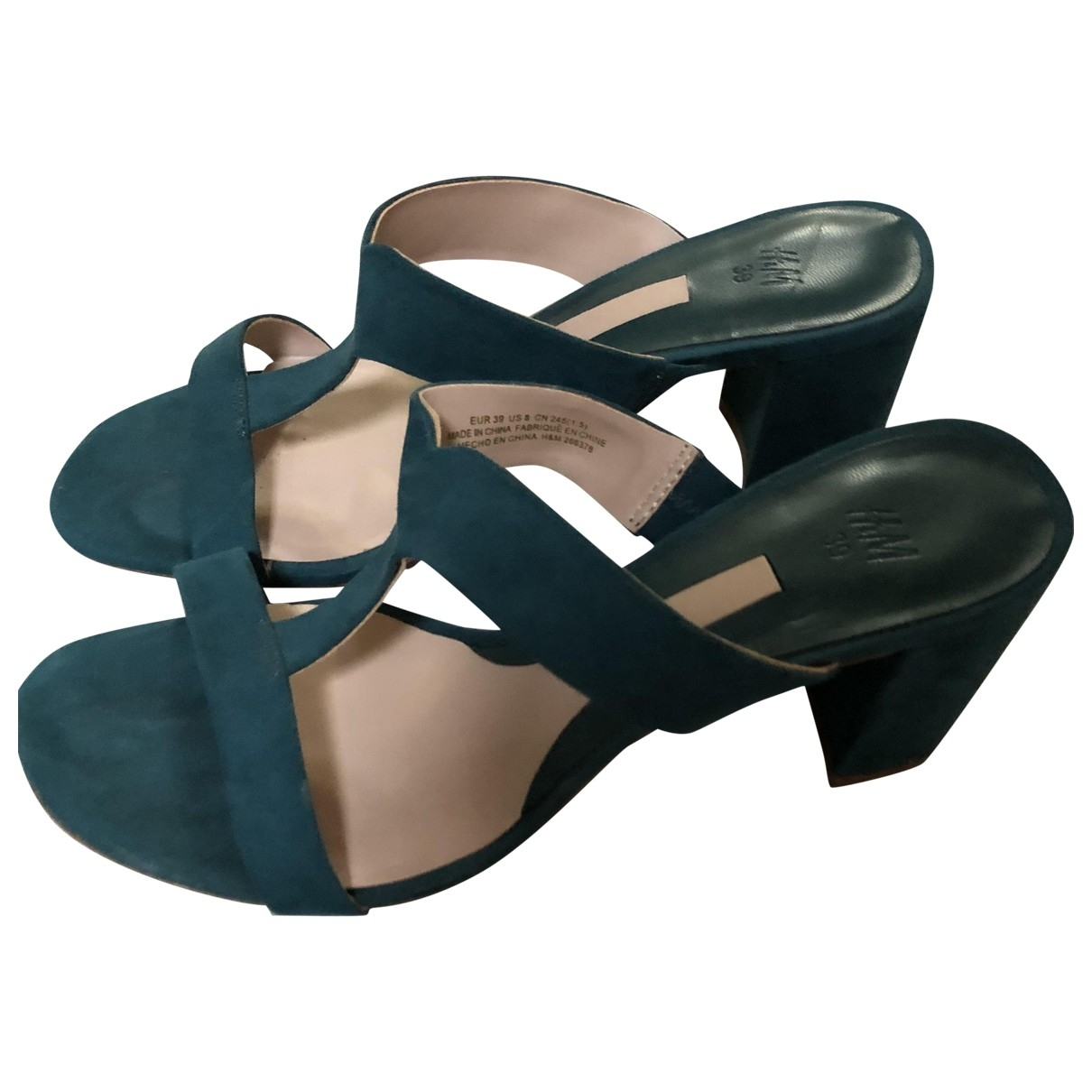 Non Signé / Unsigned \N Green Suede Sandals for Women 39 EU