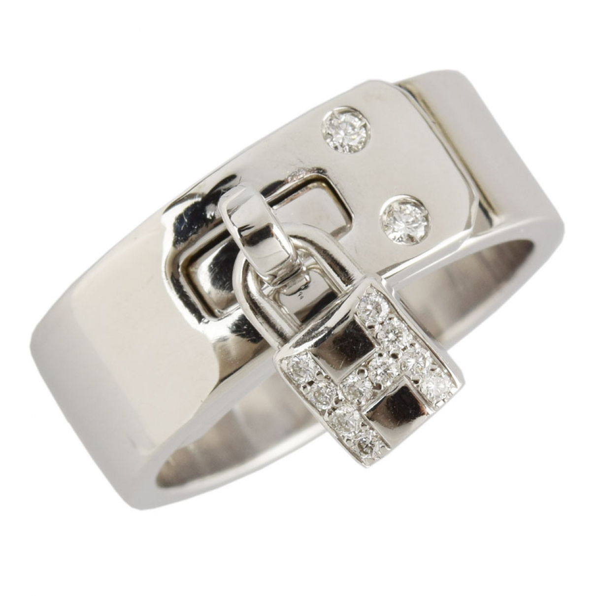 Hermes Kelly Ring in  Silber Weissgold