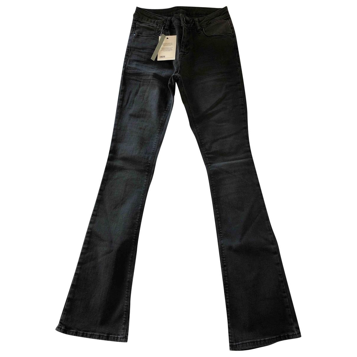 Asos \N Grey Cotton - elasthane Jeans for Women 36 FR