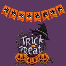 1 pieza bandera decorativa de halloween