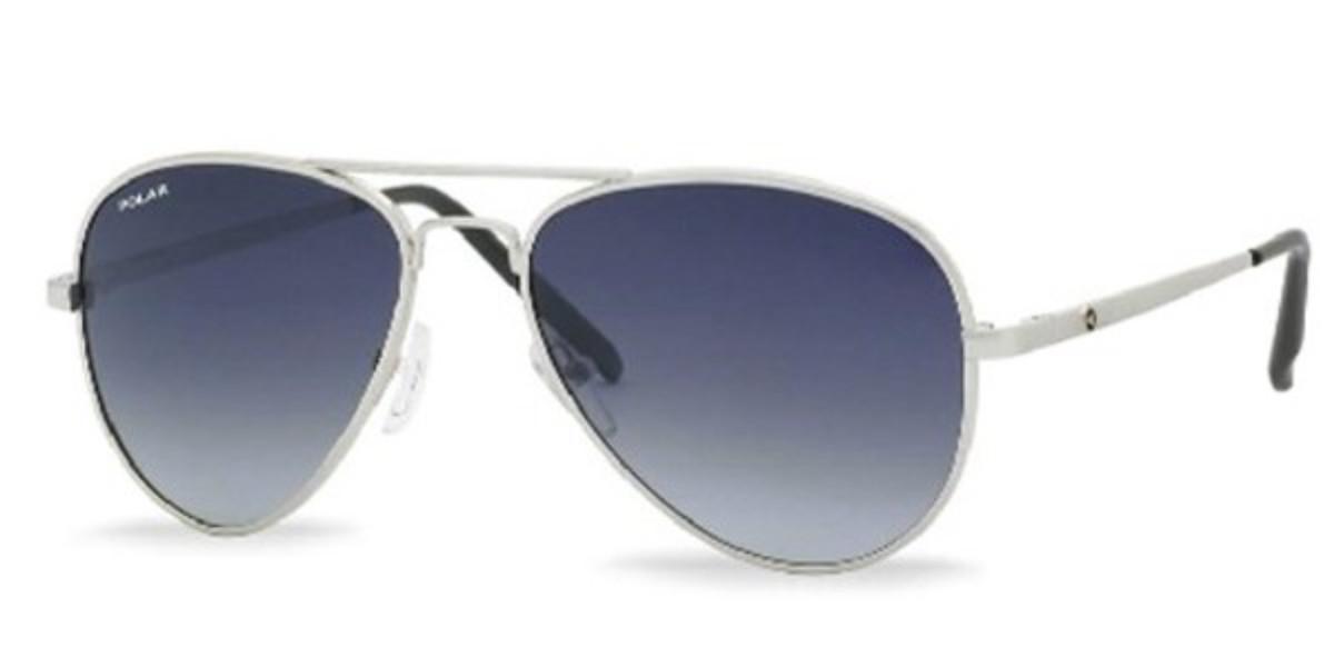 Polar PL 664 Polarized 12 Men's Sunglasses Silver Size 55