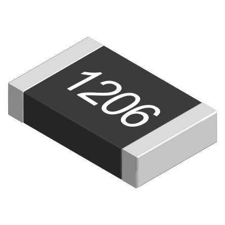 TE Connectivity 1kΩ, 1206 (3216M) Thick Film SMD Resistor ±5% 0.5W - CRGH1206J1K0 (100)