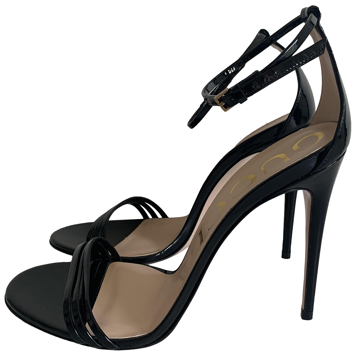 Gucci N Black Patent leather Sandals for Women 40.5 IT