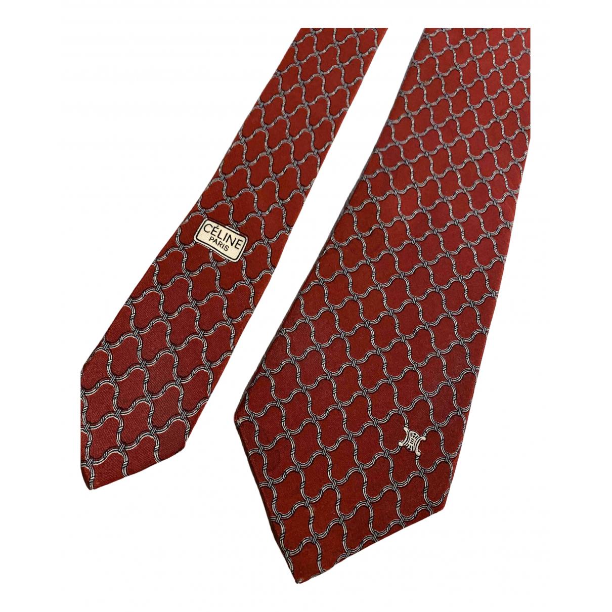 Celine \N Krawatten in  Rot Seide
