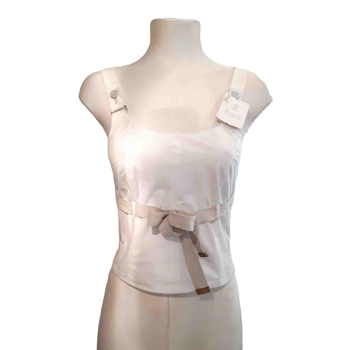 Brunello Cucinelli \N White Cotton  top for Women 42 IT