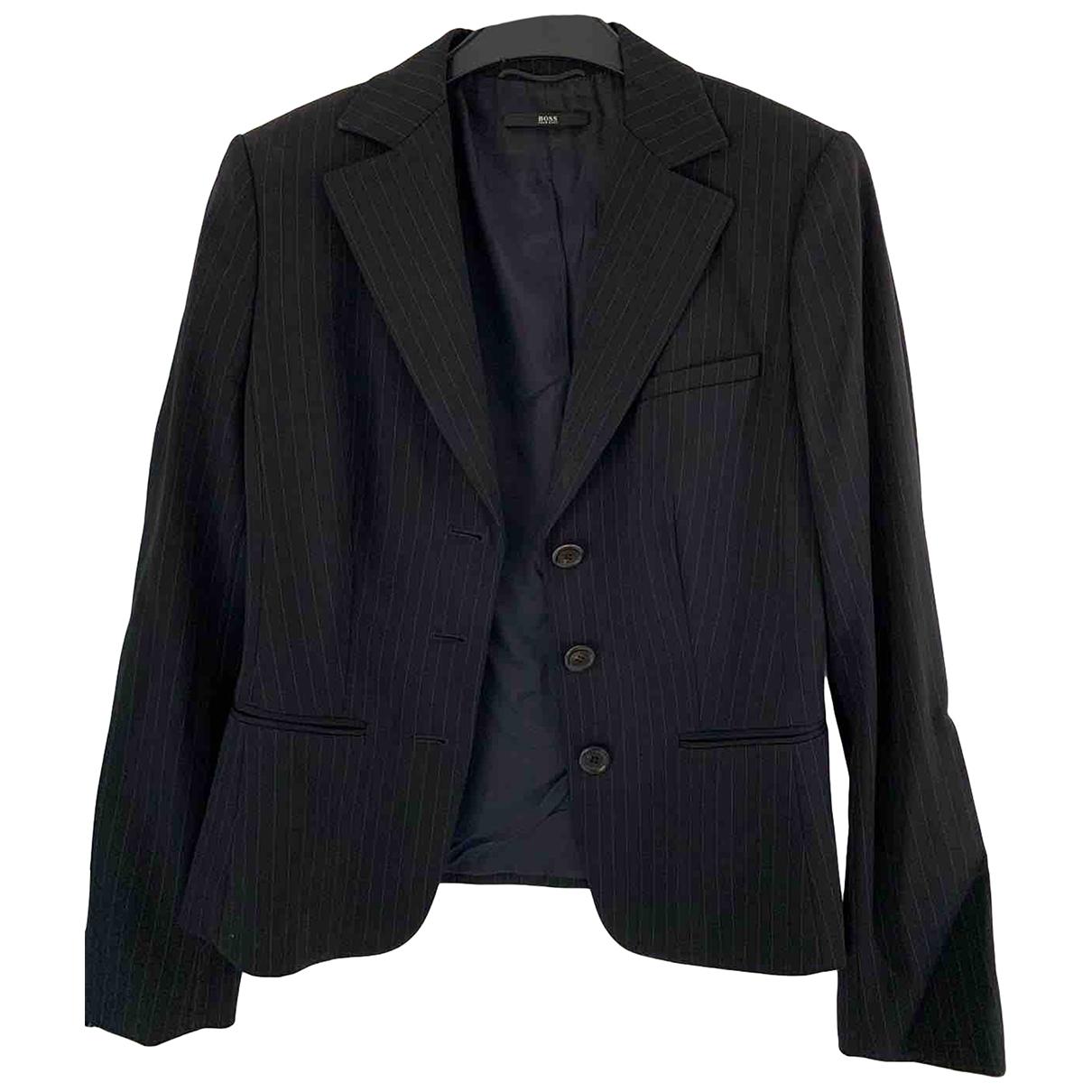 Boss \N Blue Wool jacket for Women 40 FR