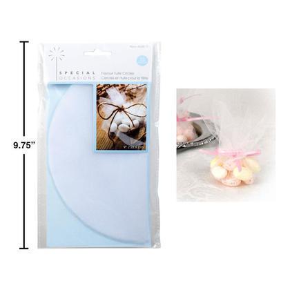 White Tulle Circles Wedding Favor Candy Wraps, 9