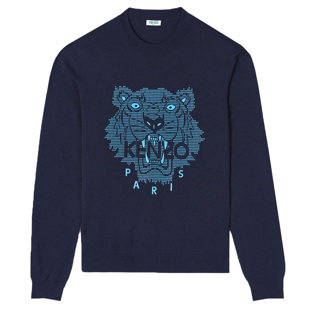 Kenzo Tiger Knitwear Colour: NAVY, Size: MEDIUM