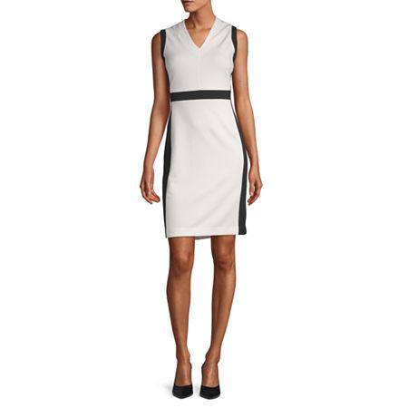 Liz Claiborne Sleeveless Sheath Dress, 12 , White