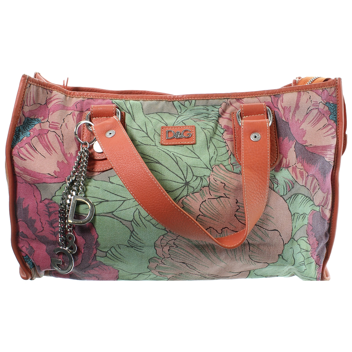 D&g \N Handtasche in  Orange Leinen
