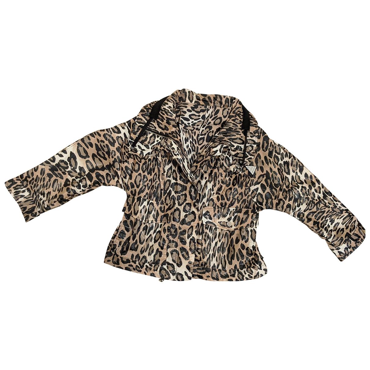 Moncler - Veste Print pour femme en coton - beige
