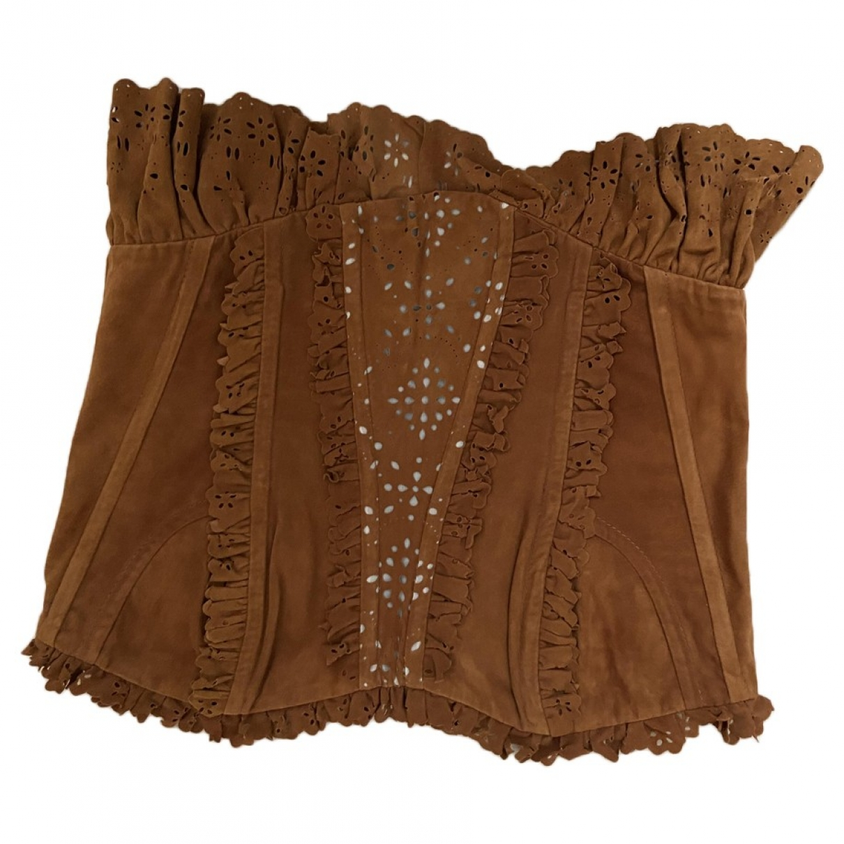 Dolce & Gabbana \N Brown Suede  top for Women 42 IT