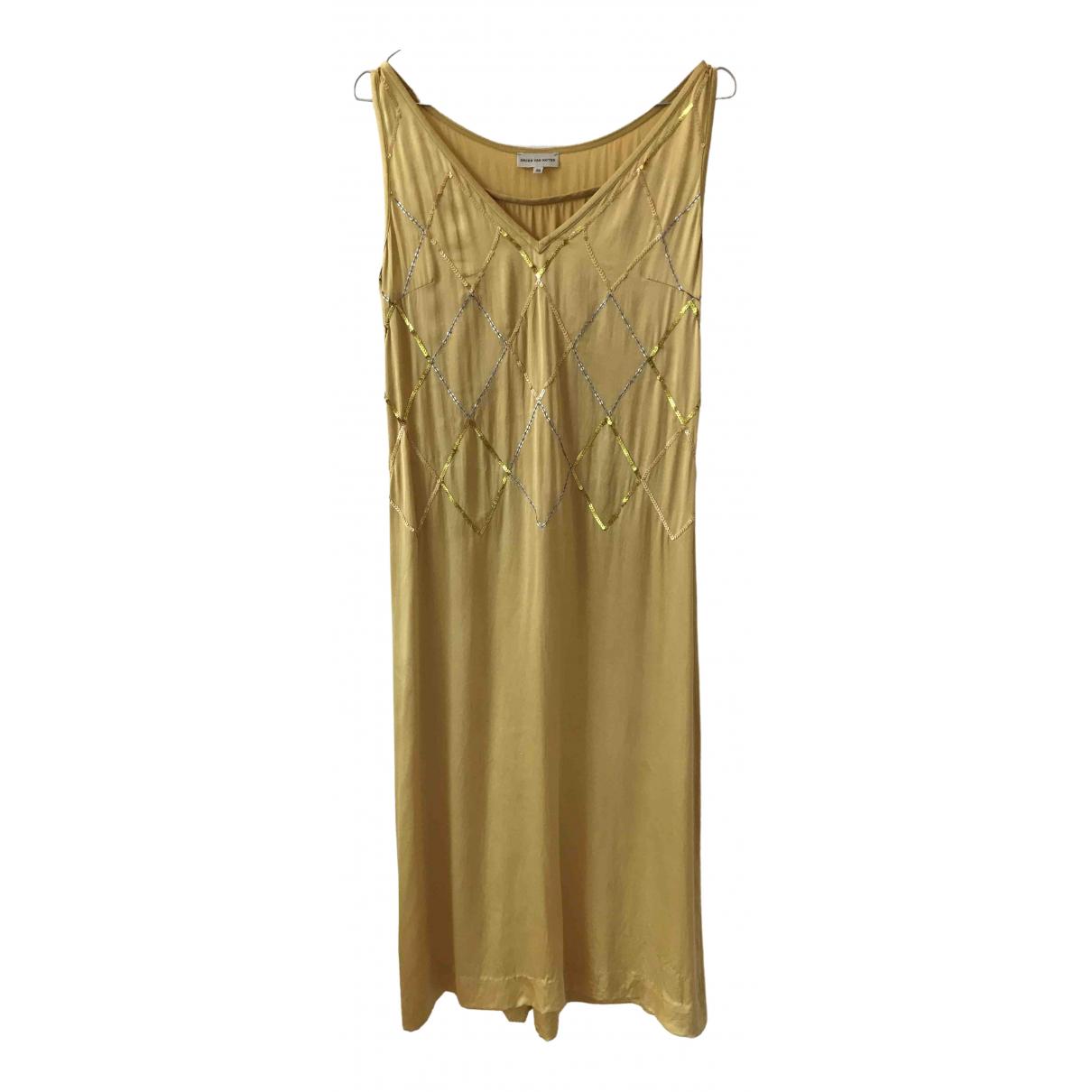 Dries Van Noten \N Yellow Silk dress for Women 36 FR