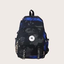 Men Colorblock Backpack