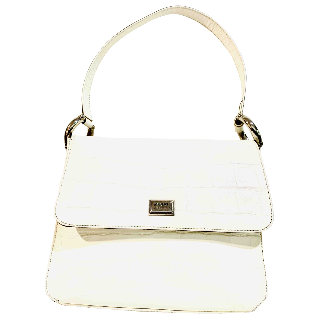 Gianfranco Ferré \N White Leather handbag for Women \N