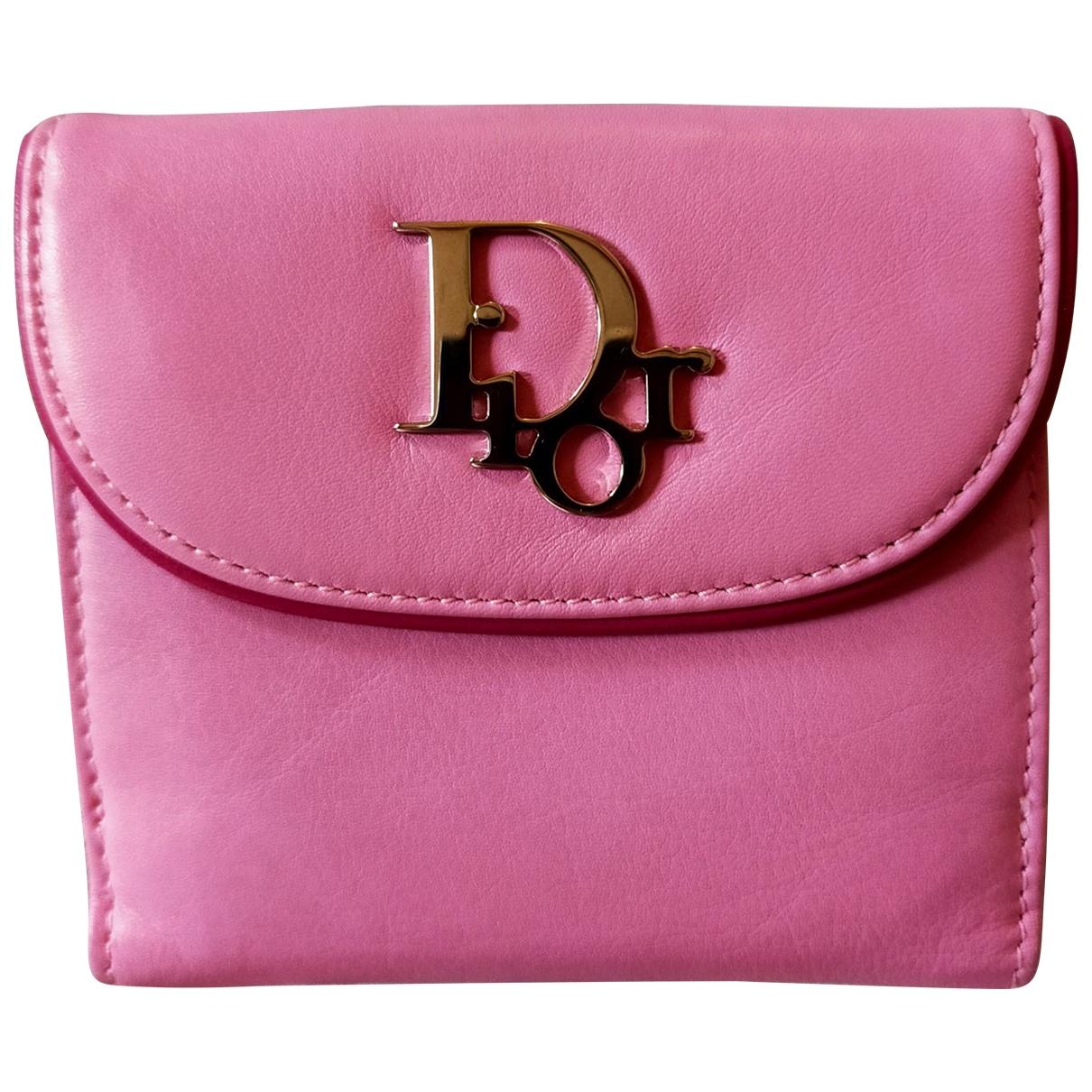 Dior \N Portemonnaie in  Rosa Leder