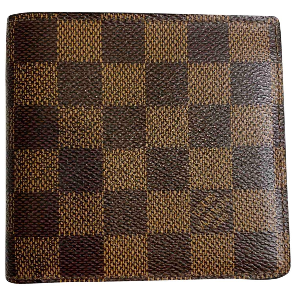 Louis Vuitton - Petite maroquinerie Marco pour homme en toile - marron