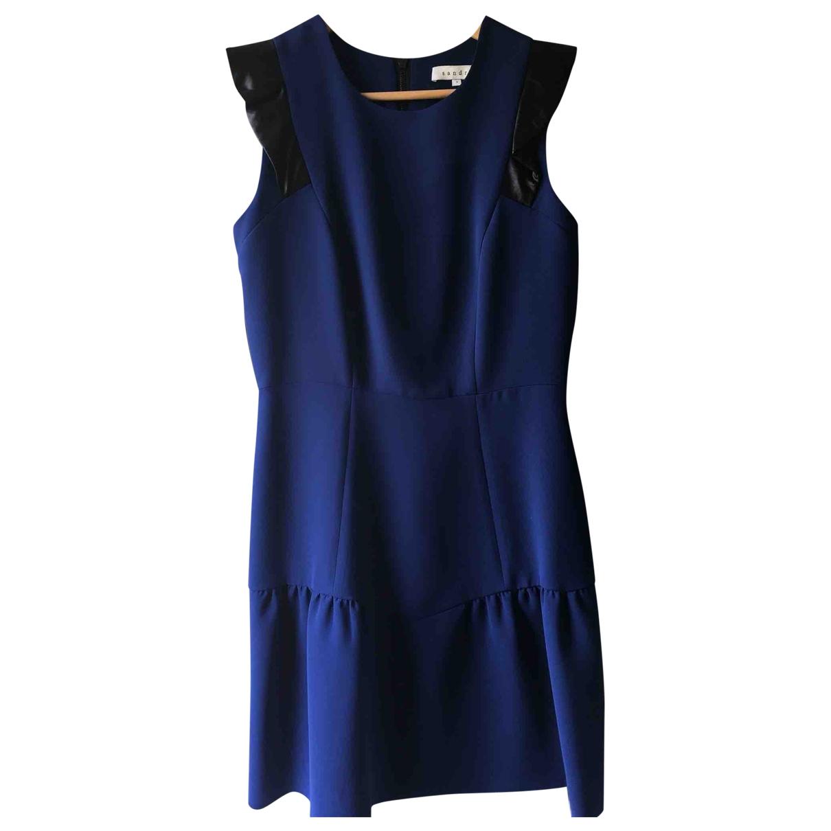 Sandro \N Kleid in  Blau Baumwolle - Elasthan