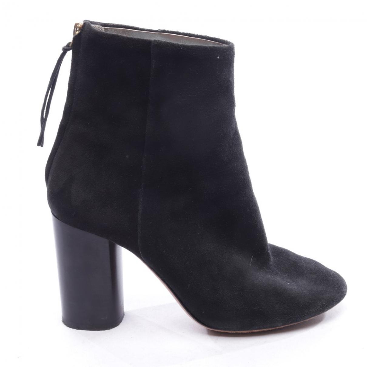 Isabel Marant Garett Black Suede Ankle boots for Women 38 EU