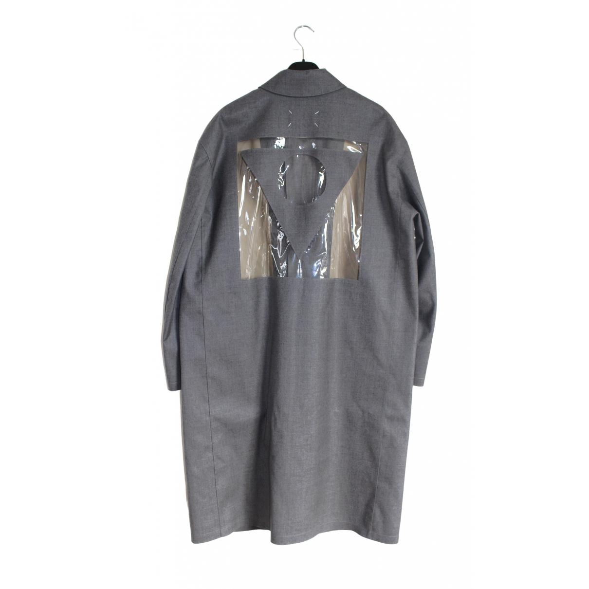 Maison Martin Margiela - Manteau   pour homme en laine - gris