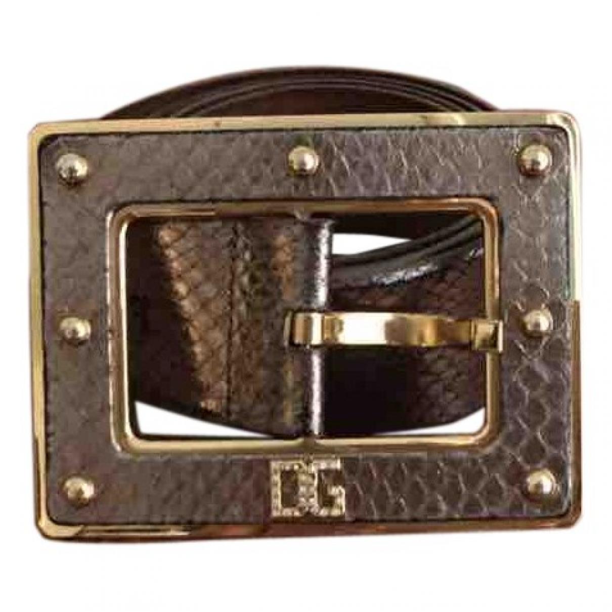 Dolce & Gabbana \N Metallic Leather belt for Women 90 cm