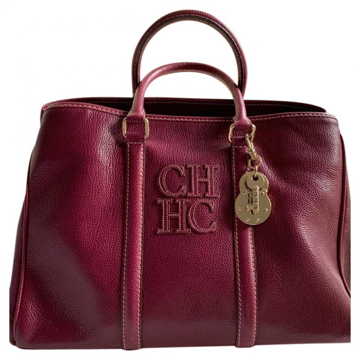 Carolina Herrera \N Purple Fur handbag for Women \N