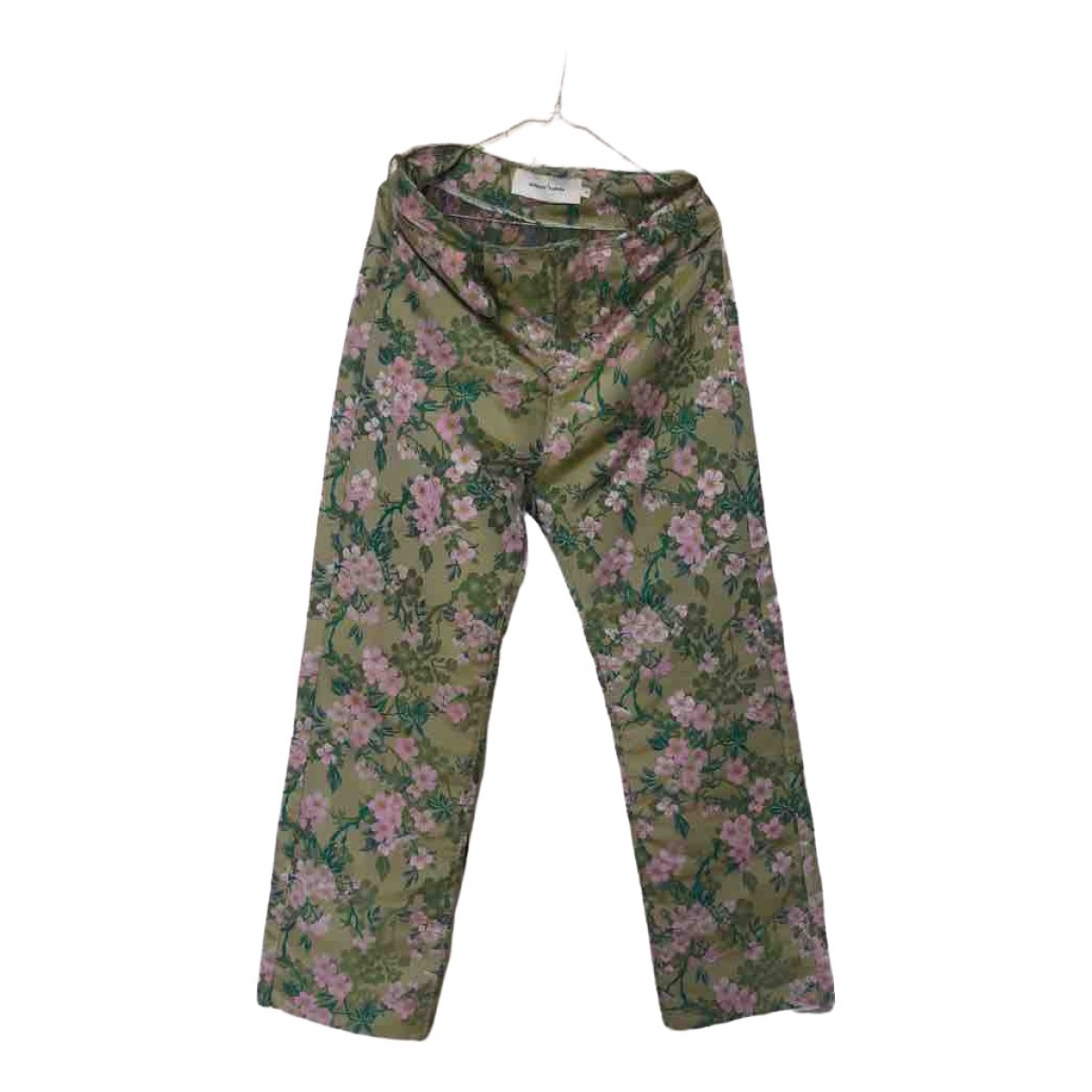 Marques Almeida \N Green Cotton Trousers for Women 8 UK