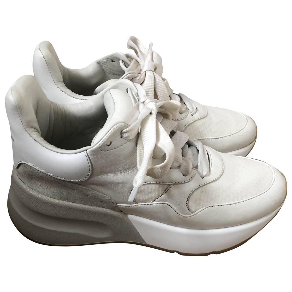Alexander Mcqueen \N White Leather Trainers for Women 36 EU