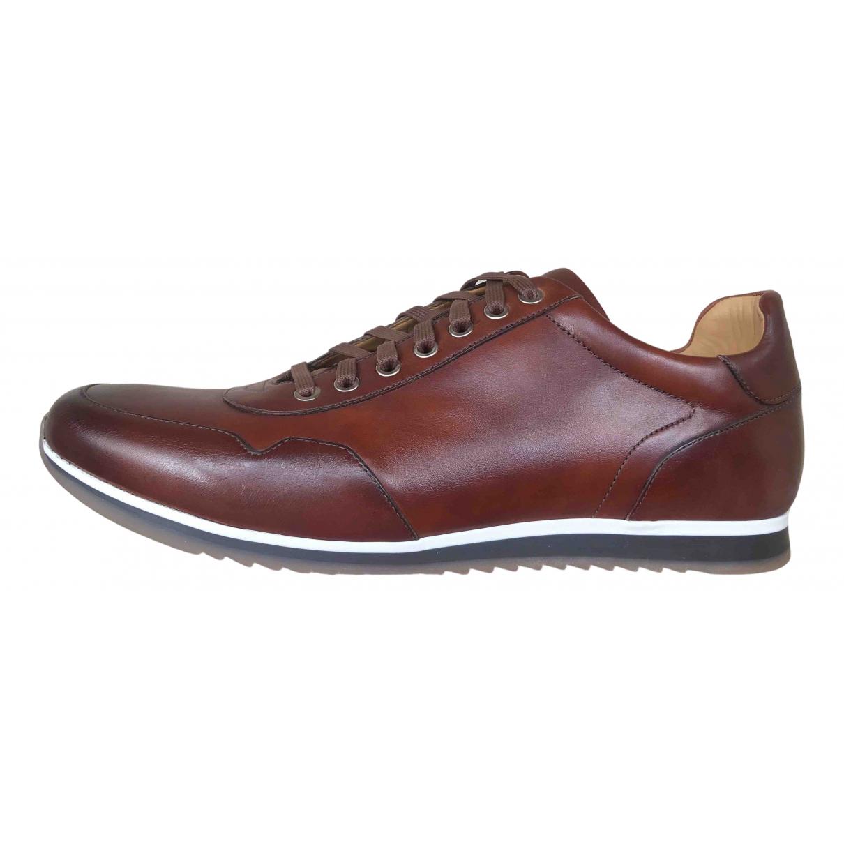 Magnanni \N Sneakers in  Braun Leder
