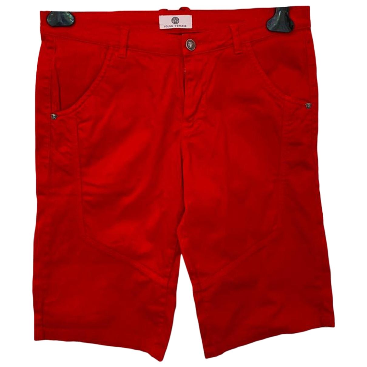Versace - Pantalon   pour enfant en coton - rouge