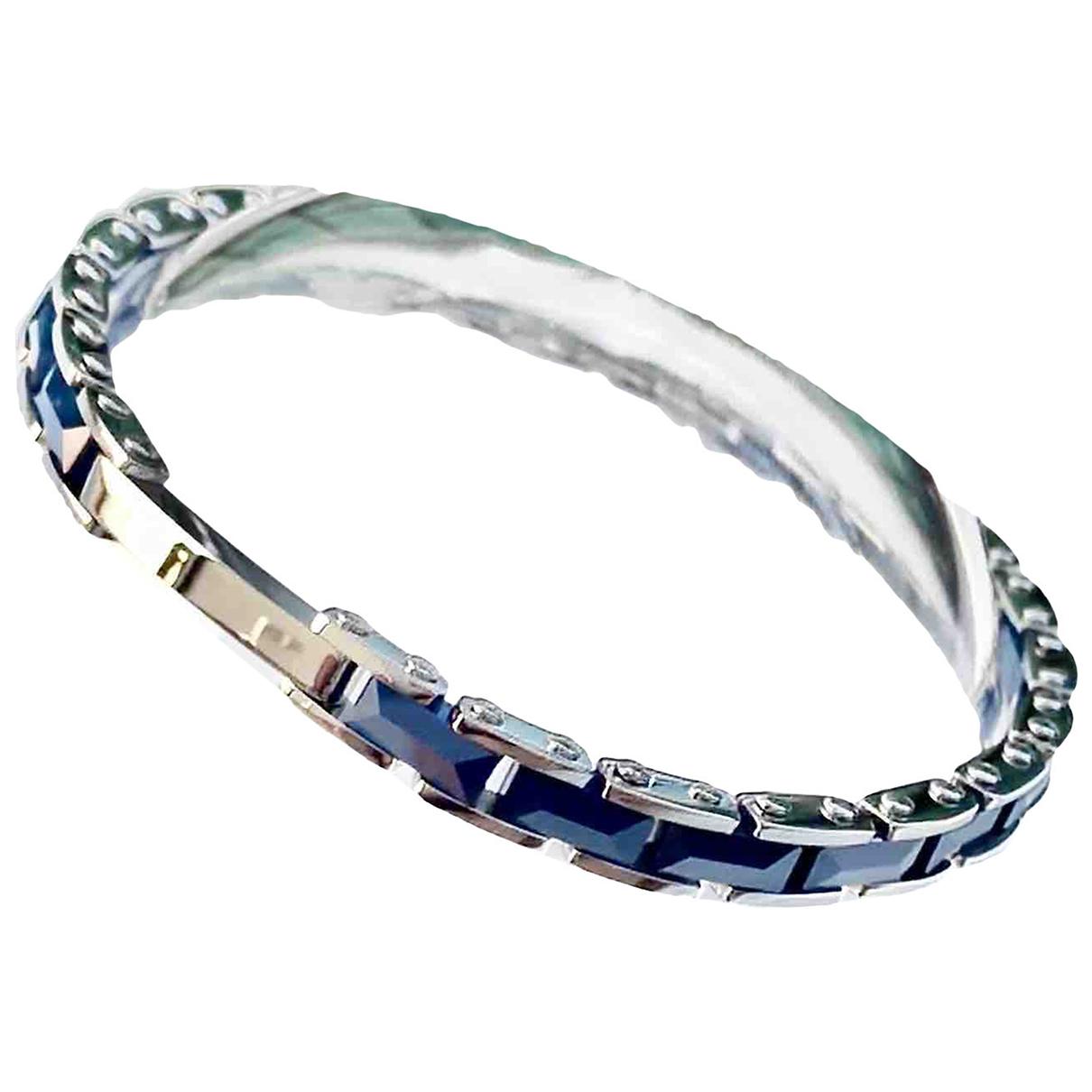 Non Signe / Unsigned Chaines Schmuckstuecke in  Blau Metall